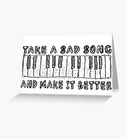 The Beatles Song Lyrics Hey Jude Inspirational Greeting Card