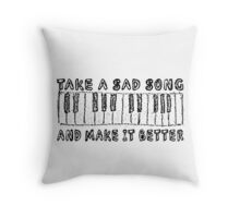 The Beatles Song Lyrics Hey Jude Inspirational Throw Pillow