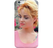 pretty blonde woman  iPhone Case/Skin