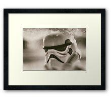 Lego storm trooper vintage Framed Print