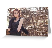 Gothic woman  Greeting Card
