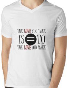 The Beatles The End Song Lyrics John Lennon Paul McCartney Inspirational Mens V-Neck T-Shirt