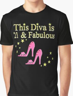 PRETTY PINK 21ST BIRTHDAY SHOE QUEEN Graphic T-Shirt