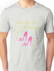 PRETTY PINK 21ST BIRTHDAY SHOE QUEEN Unisex T-Shirt