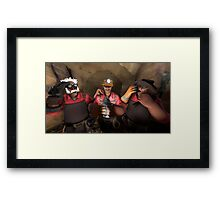 Team Fortress 2 The 3 Engineer Brothers Framed Print