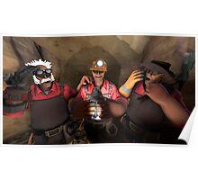 Team Fortress 2 The 3 Engineer Brothers Poster