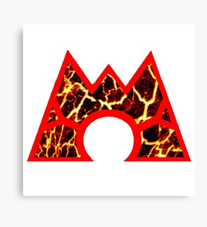 Team Magma Logo (Pokemon) Canvas Print