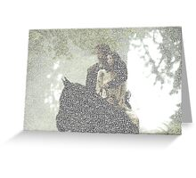 Jamie and Claire made from text Greeting Card