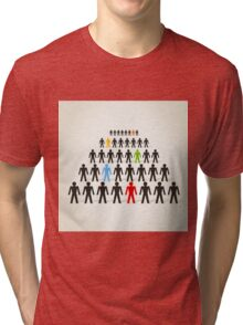 Crowd of people Tri-blend T-Shirt