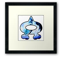 Team Aqua Logo (Pokemon) Framed Print