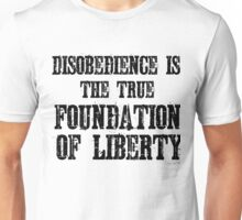 Disobedience Liberty Foundation Free Speech Protest Unisex T-Shirt