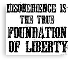 Disobedience Liberty Foundation Free Speech Protest Canvas Print