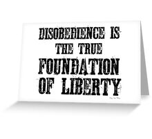 Disobedience Liberty Foundation Free Speech Protest Greeting Card