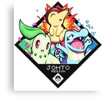Johto Region - Pokemon Canvas Print
