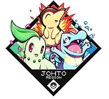 Johto Region - Pokemon Photographic Print