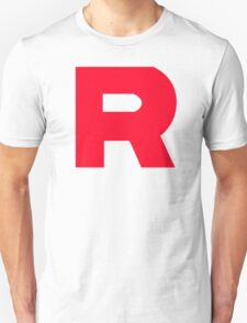 Team Rocket T-Shirt Without Quote Black and White  Unisex T-Shirt
