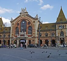 Central Market Hall, Budapest, Hungary by Margaret  Hyde