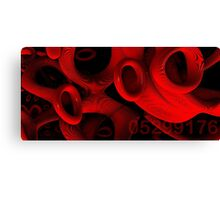 red rings of mercury Canvas Print