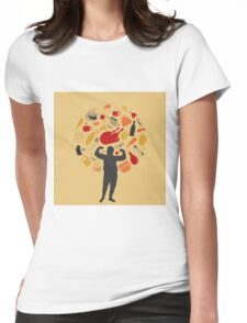 Fat man Womens Fitted T-Shirt