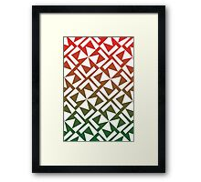 Red and Green Geometric Pattern Framed Print