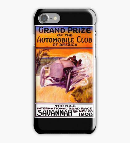 """SAVANNAH GRAND PRIX"" Vintage Auto Racing Print iPhone Case/Skin"