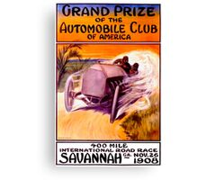 """SAVANNAH GRAND PRIX"" Vintage Auto Racing Print Canvas Print"