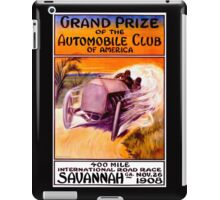 """SAVANNAH GRAND PRIX"" Vintage Auto Racing Print iPad Case/Skin"