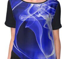 Blue Smoke Swirl Chiffon Top