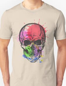 Watercolor skull. Unisex T-Shirt