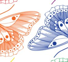 HARRY STYLES RAINBOW BUTTERFLY TATTOO Sticker