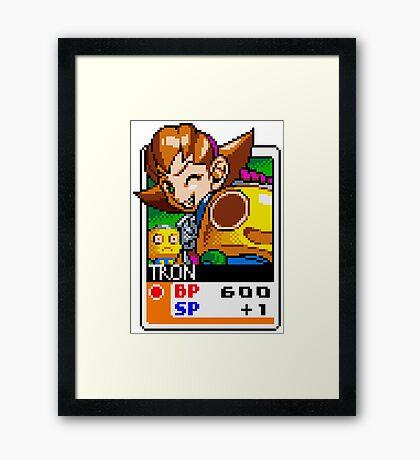 Tron Bonne - Mega Man Framed Print