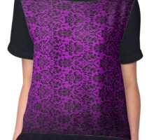 Vintage Purple Gothic Vampire Embrace Chiffon Top