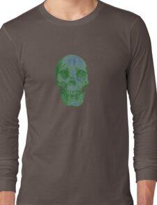 Glowing Skull Weird Random Creepy Long Sleeve T-Shirt