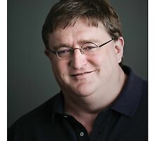 Gabe Newell Steam God by Marmbo