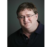 Gabe Newell Steam God Photographic Print