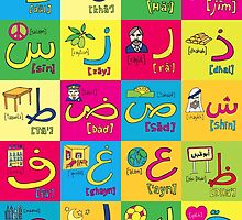 Arabic Alphabet by Dubai Doodles by DubaiDoodles