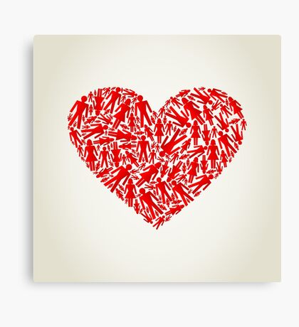 Heart the person Canvas Print