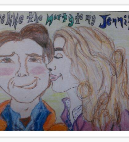 The Marty to my Jennifer Sticker