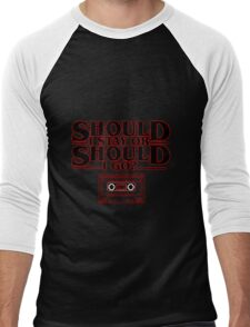 Should I Stay or Should I go? (Stranger Things + The Clash) Men's Baseball ¾ T-Shirt