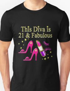 21 & FABULOUS SHOE QUEEN Unisex T-Shirt