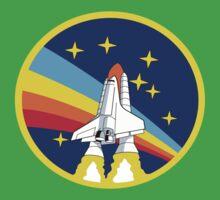 Space Shuttle Rainbow - Vintage Icon One Piece - Short Sleeve