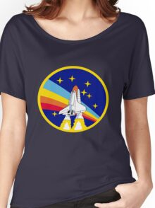 Space Shuttle Rainbow - Vintage Icon Women's Relaxed Fit T-Shirt