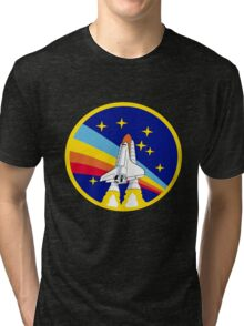Space Shuttle Rainbow - Vintage Icon Tri-blend T-Shirt