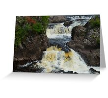 Potato River Falls 2 Greeting Card