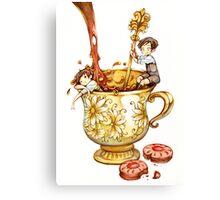 Tea and Cookies Canvas Print