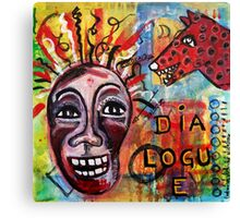 DIALOGUE BETWEEN RED DAWG AND WILDWOMAN-SELF Canvas Print