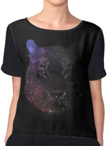 Space Tiger Cool Pretty Hipster Universe Chiffon Top