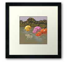 Stay Hungry, Stay Foolish Framed Print