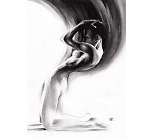 emergent 1b - Charcoal & Compressed Charcoal on paper Photographic Print