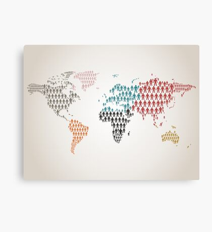 Person map Canvas Print